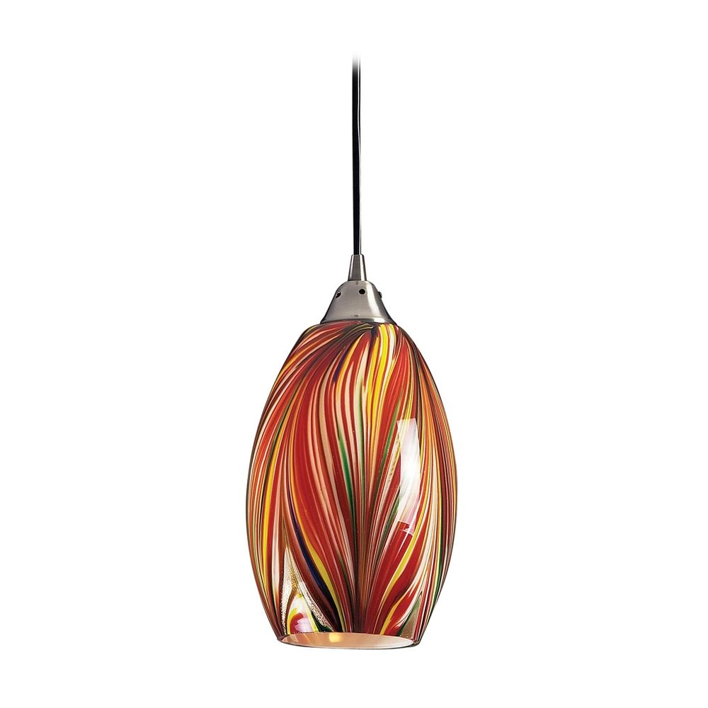 Modern mini pendant light with multi color glass 517 1m product image aloadofball
