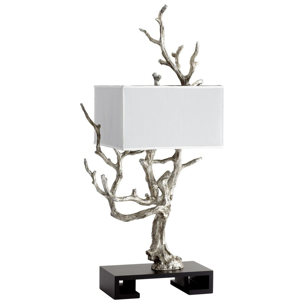 Cyan design mesquite mystic silver table lamp with rectangle shade cyan design mesquite mystic silver table lamp with rectangle shade aloadofball Image collections