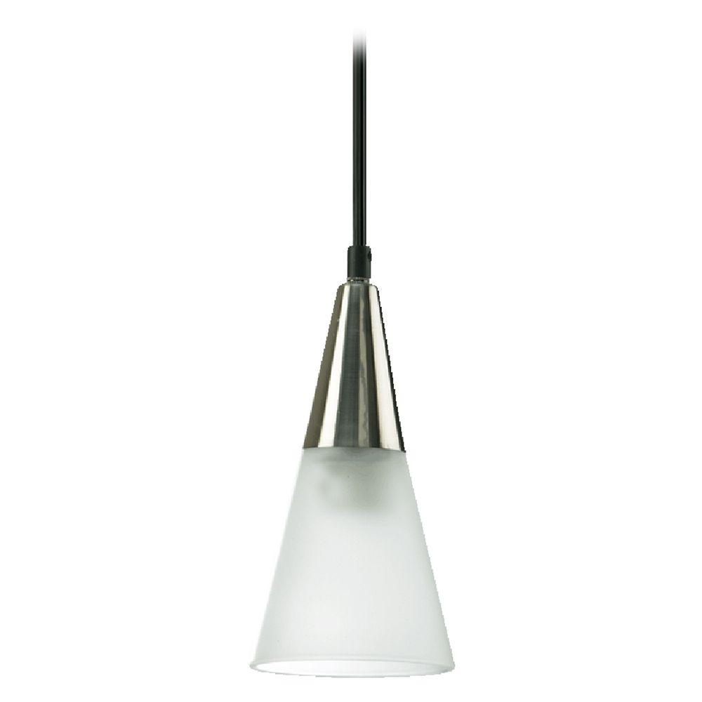Mid Century Modern Mini Pendant Light Frosted Glass Satin