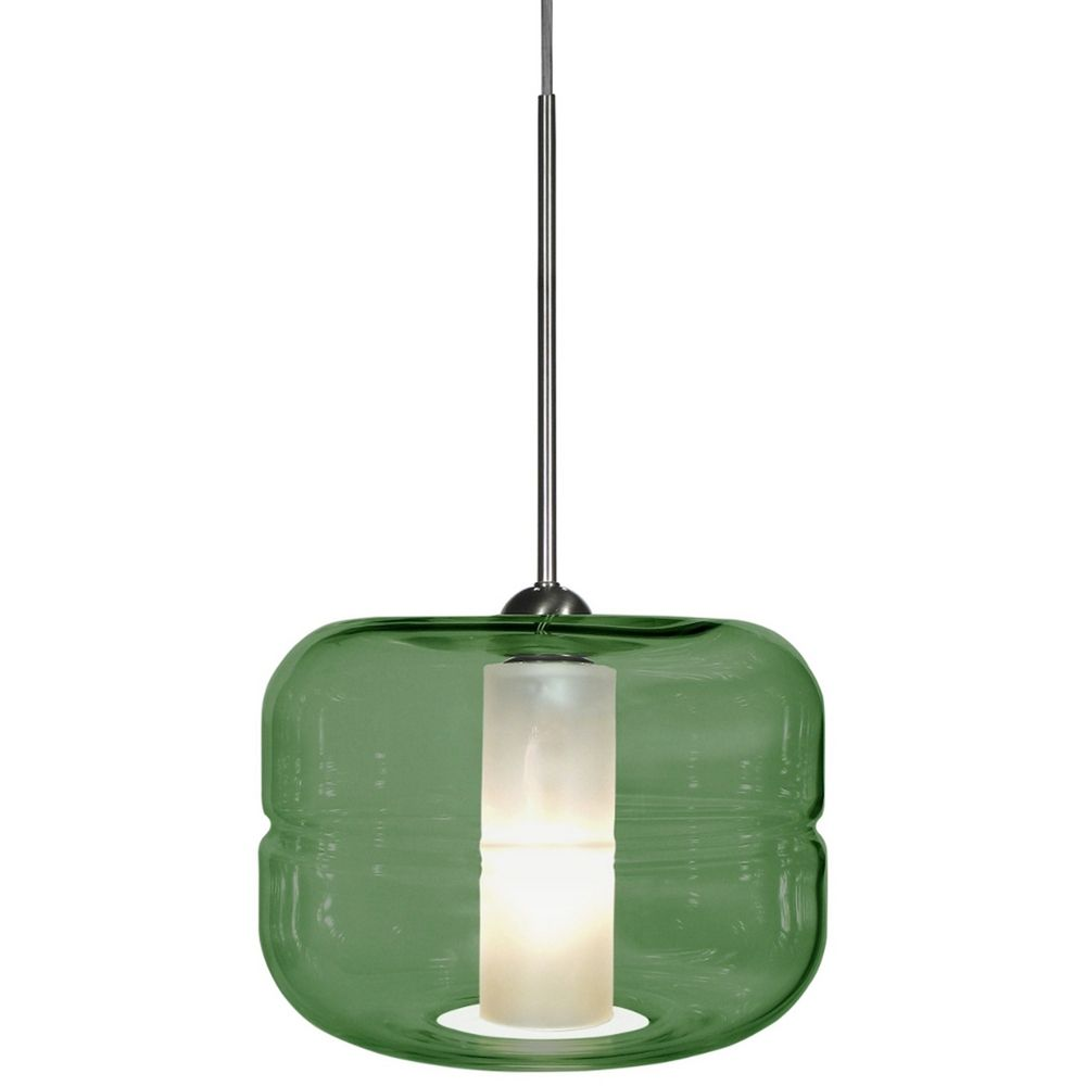 Oggetti lighting helsinki satin nickel pendant light with for Oggetti lighting