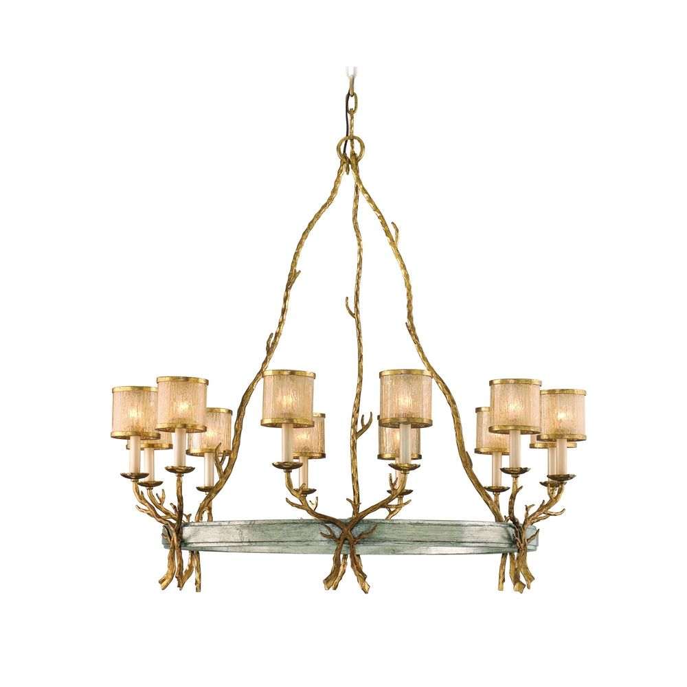 Corbett Lighting Parc Royale Gold and Silver Leaf