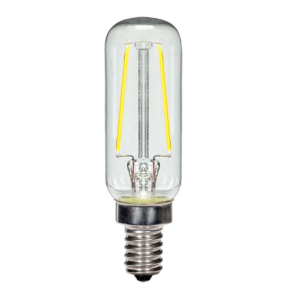 2.5W LED T6 Candelabra Base Bulb 2700K 200LM