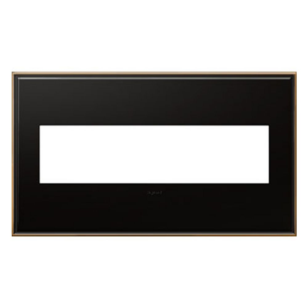 Legrand Adorne Oil Rubbed Bronze 4 Gang Switch Plate