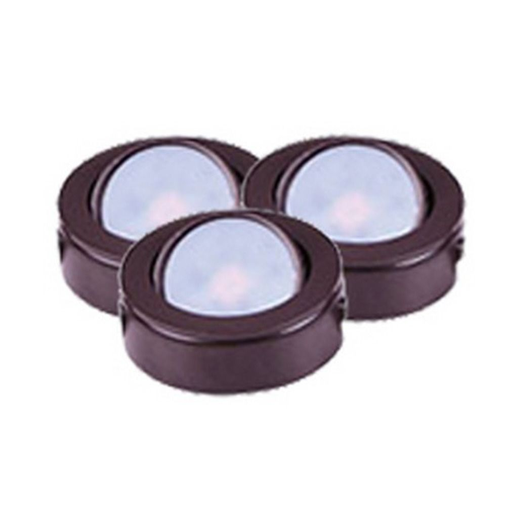 120v led puck light recessed surface mount 3000k bronze by maxim hover or click to zoom aloadofball Choice Image