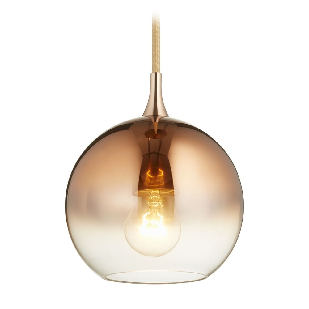 copper mini pendant light. Copper Ombre Globe Mini Pendant Light By Quorum Lighting