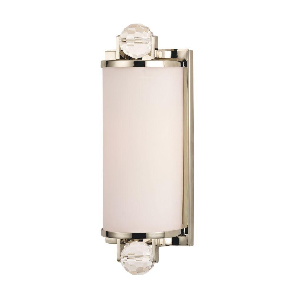 Prescott Polished Nickel Bathroom Light 491 Pn Destination Lighting