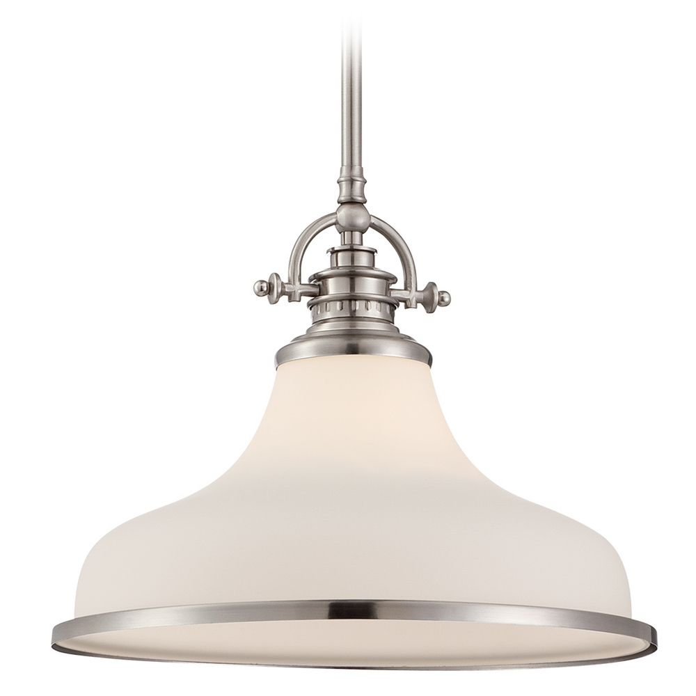 grant brushed nickel pendant light grt2814bn destination lighting