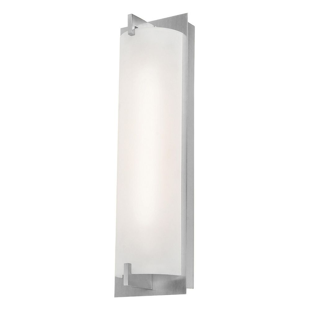 Bo brushed steel bathroom light vertical mounting only for Acces vertical
