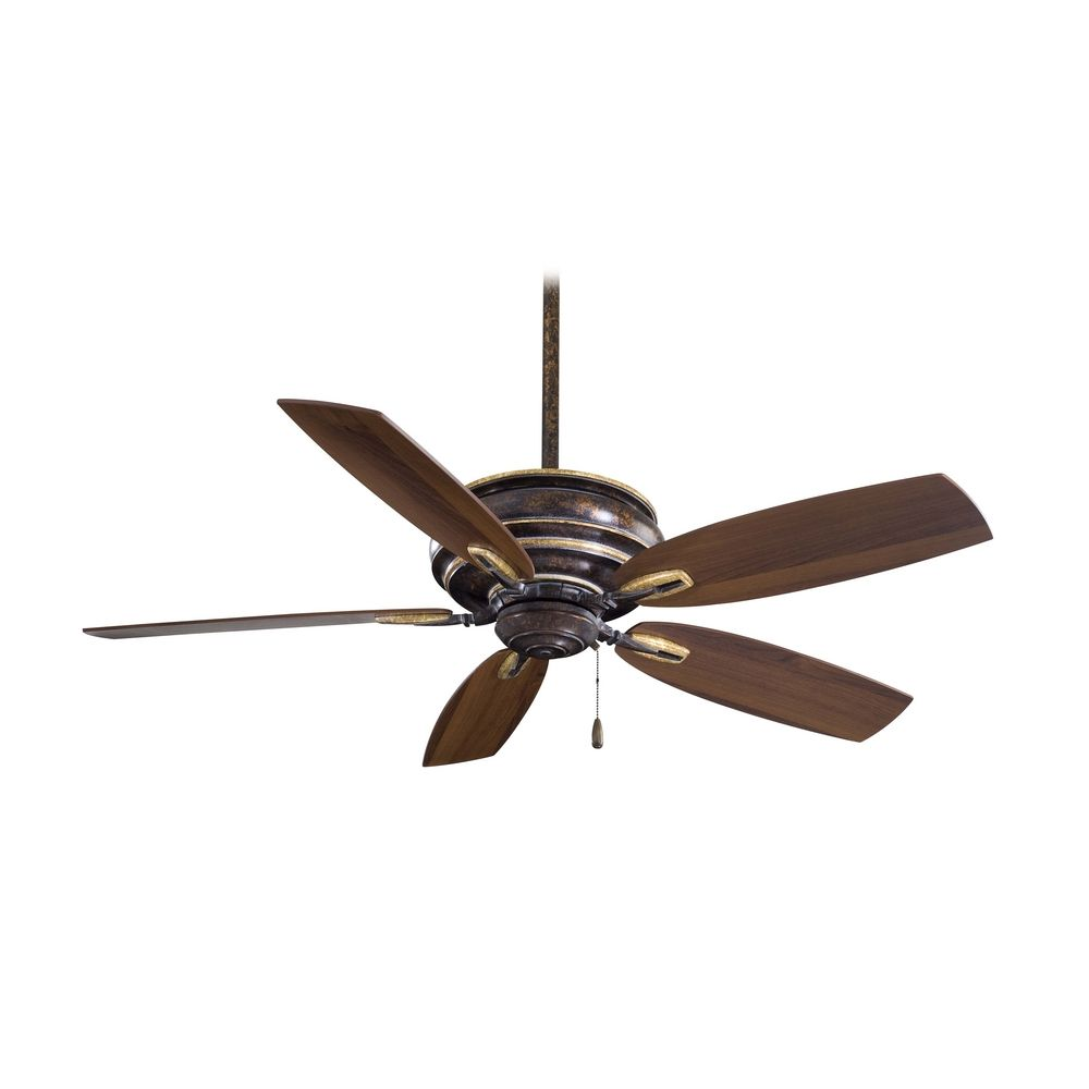 Ceiling Fan Without Light in Copper Finish