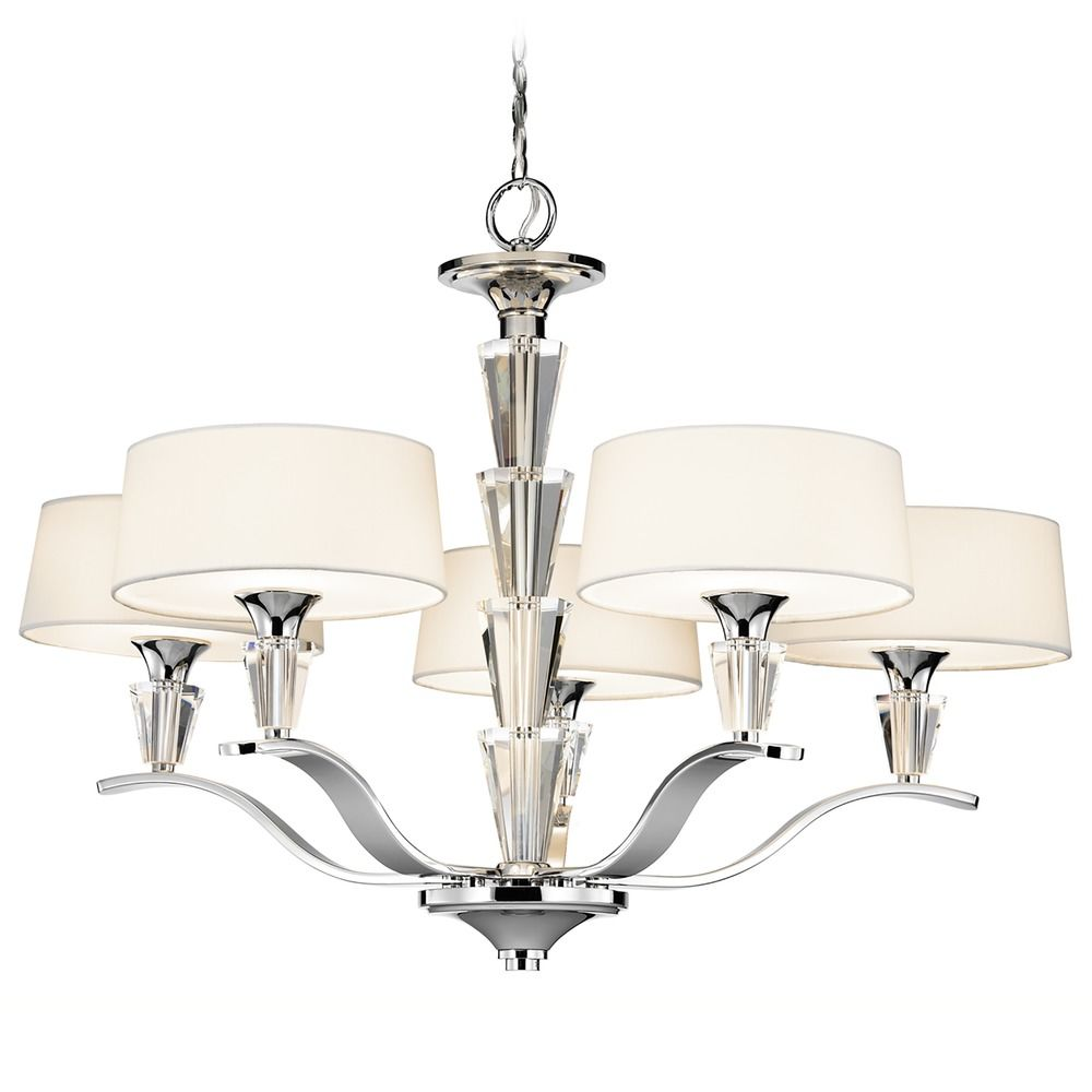 Kichler Lighting Vintage Inspired Five Light Chandelier 42030ch Hover Or Click To Zoom