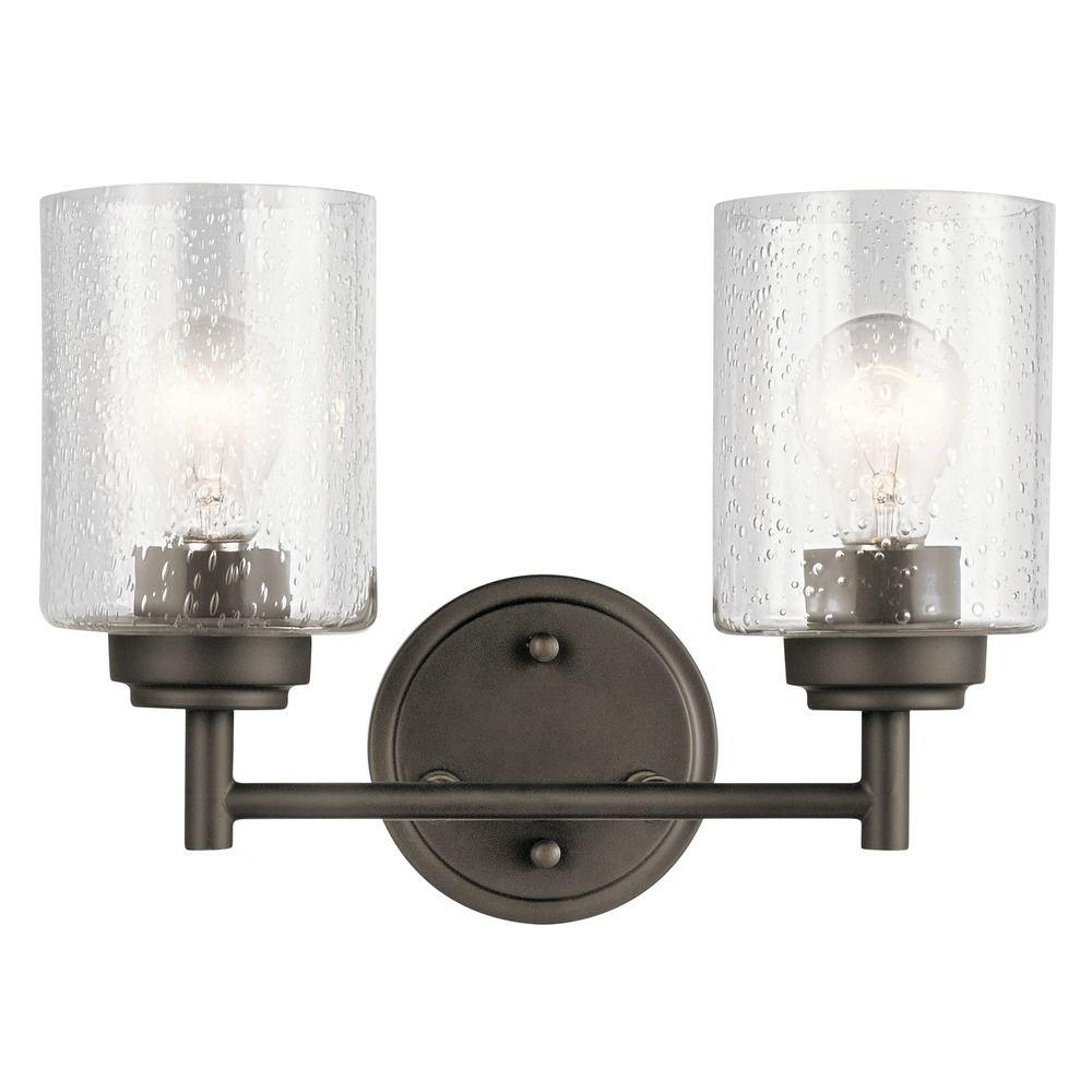 Kichler Lighting Lights: Seeded Glass Bathroom Light Olde Bronze Winslow By Kichler