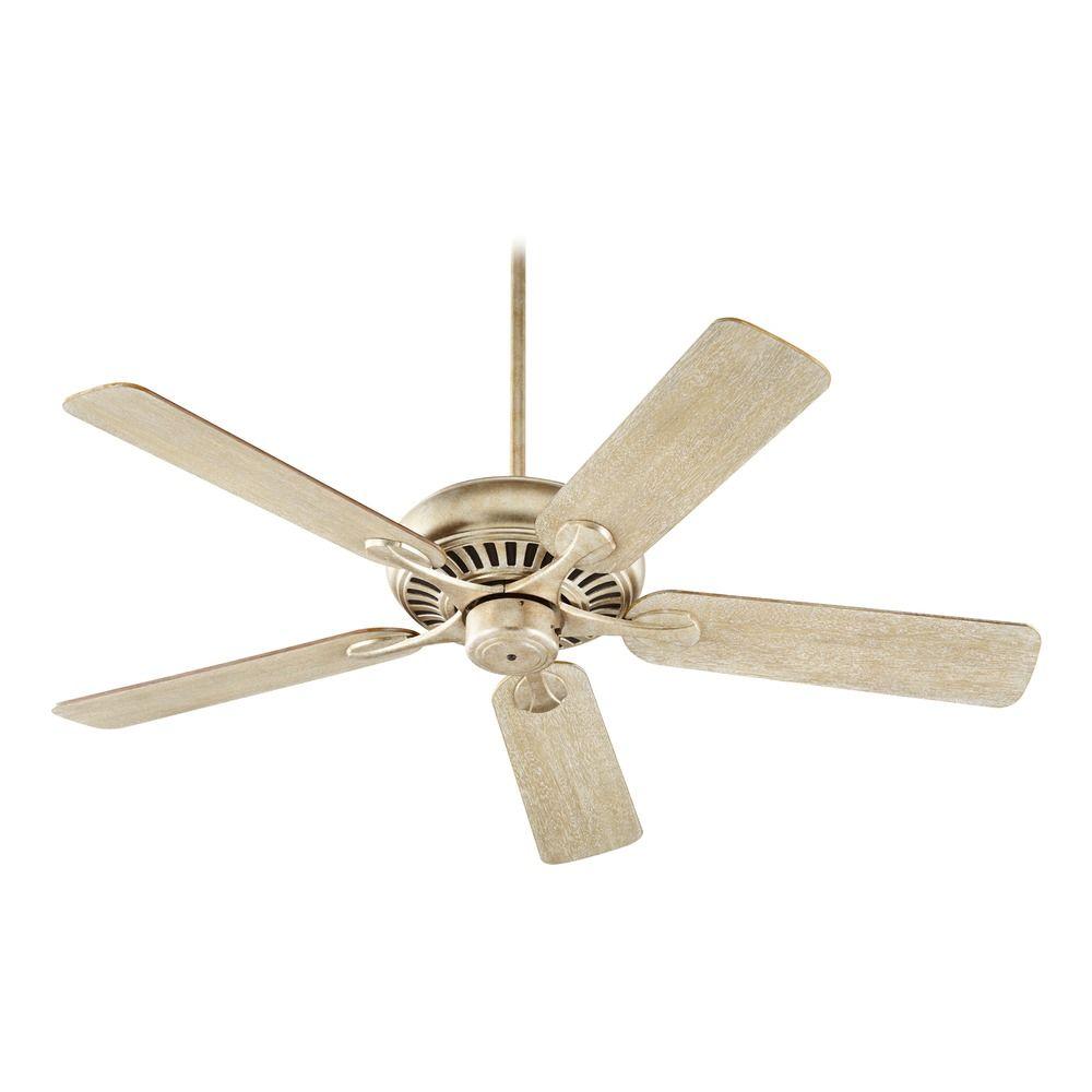 Quorum Lighting Pinnacle Aged Silver Leaf Ceiling Fan