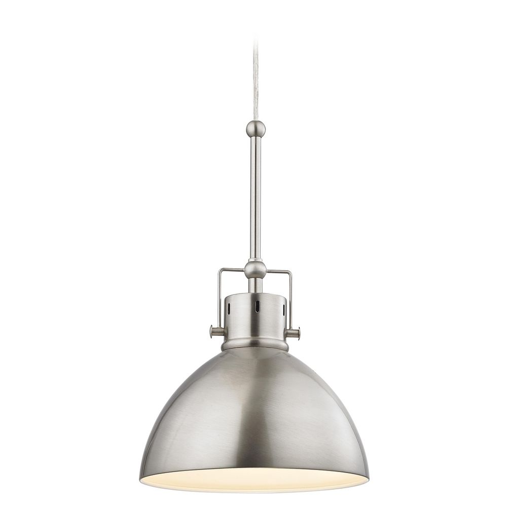 Satin Nickel Dome Metal Pendant Light Destination
