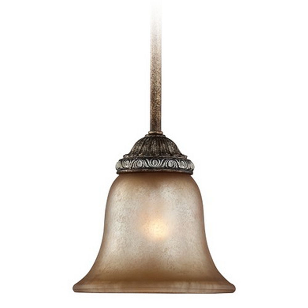 Mini pendant light with aged amber glass 2401 162 for Mini pendant lights