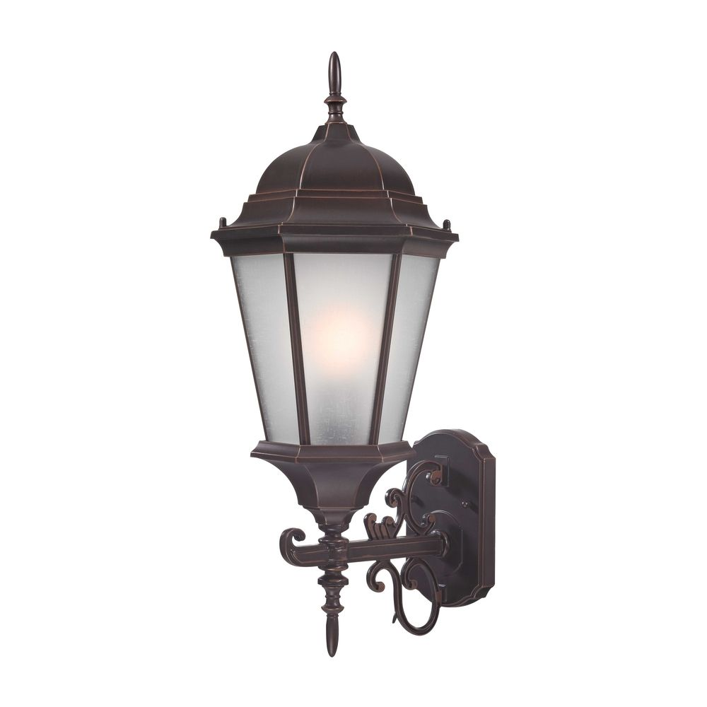 Large Coach Outdoor Wall Light In Bronze 22 3 4 Inches
