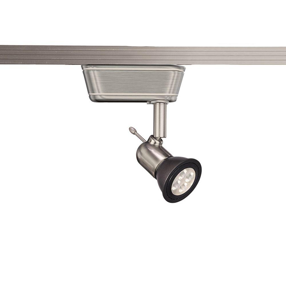 Led Track Lighting Brushed Nickel: WAC Lighting Brushed Nickel LED Track Light H-Track 3000K