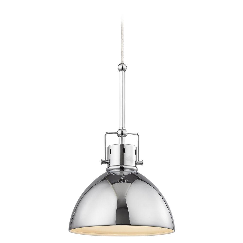 Chrome dome metal pendant light 2038 1 26 destination lighting product image aloadofball Gallery