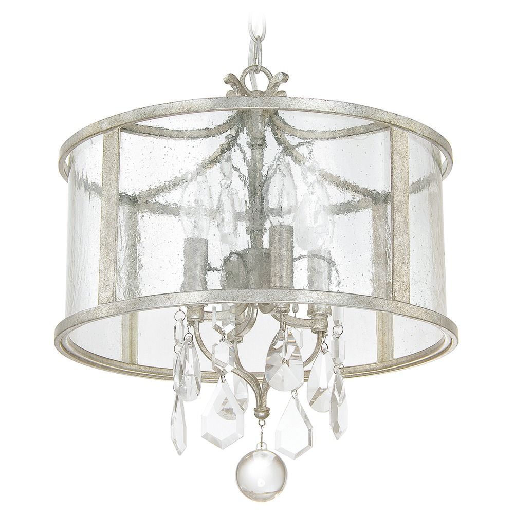 Capital Lighting Blakely Antique Silver Pendant Light With