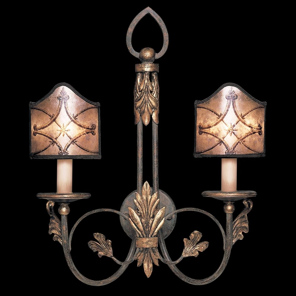 Fine Art Bathroom Lighting: Fine Art Lamps Villa 1919 Umber With Gilded Accents Sconce