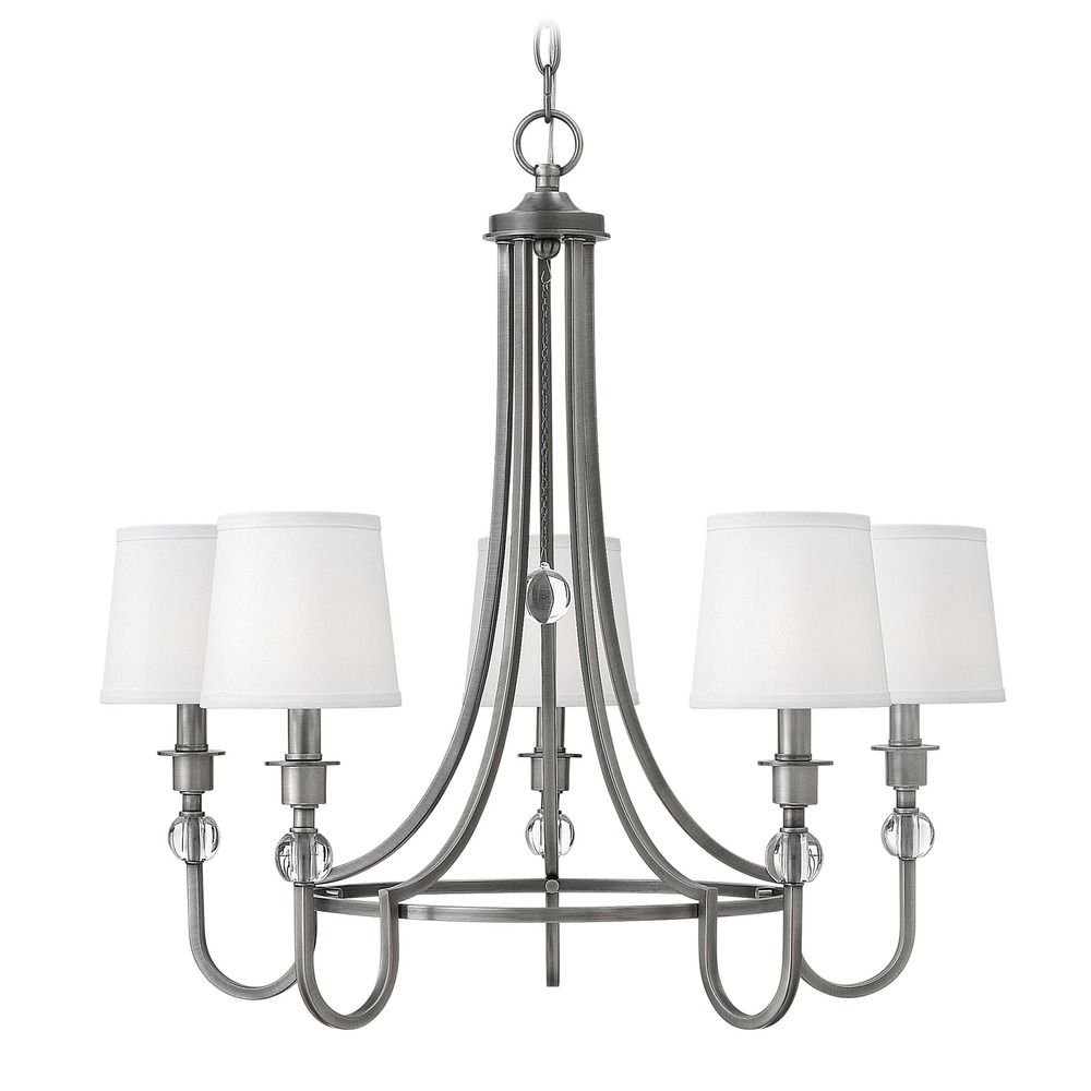 hinkley lighting antique nickel chandelier 4875an 87980
