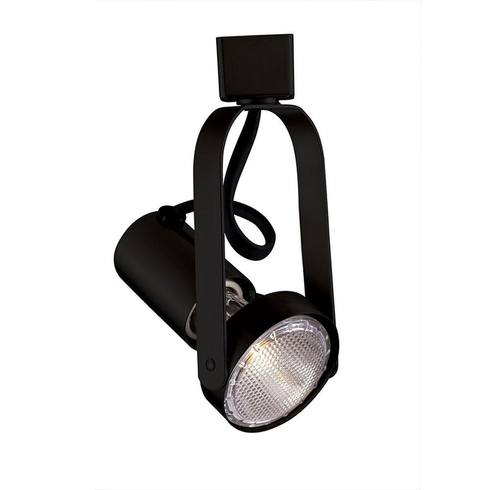 Wac Track Lighting: Wac Lighting Black Track Light Head