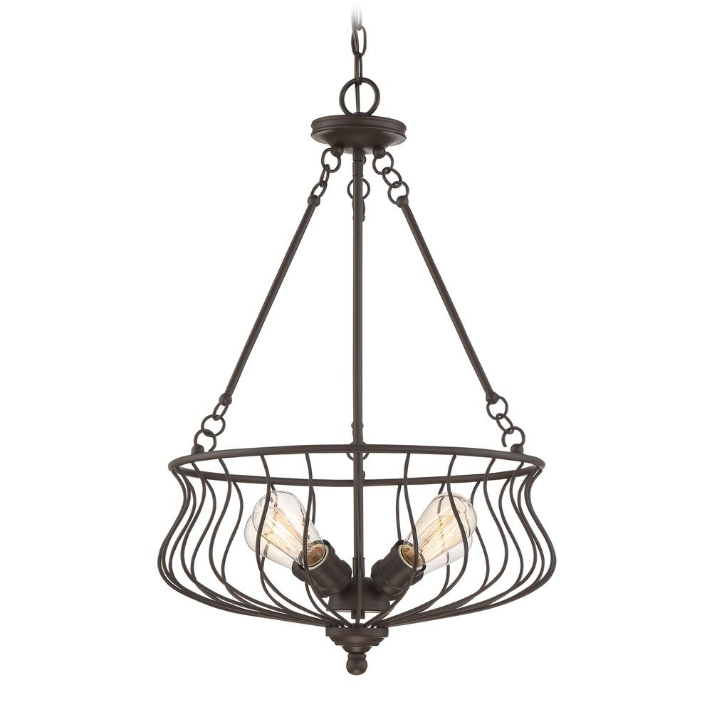 Quoizel Lighting Baroness Western Bronze Pendant Light