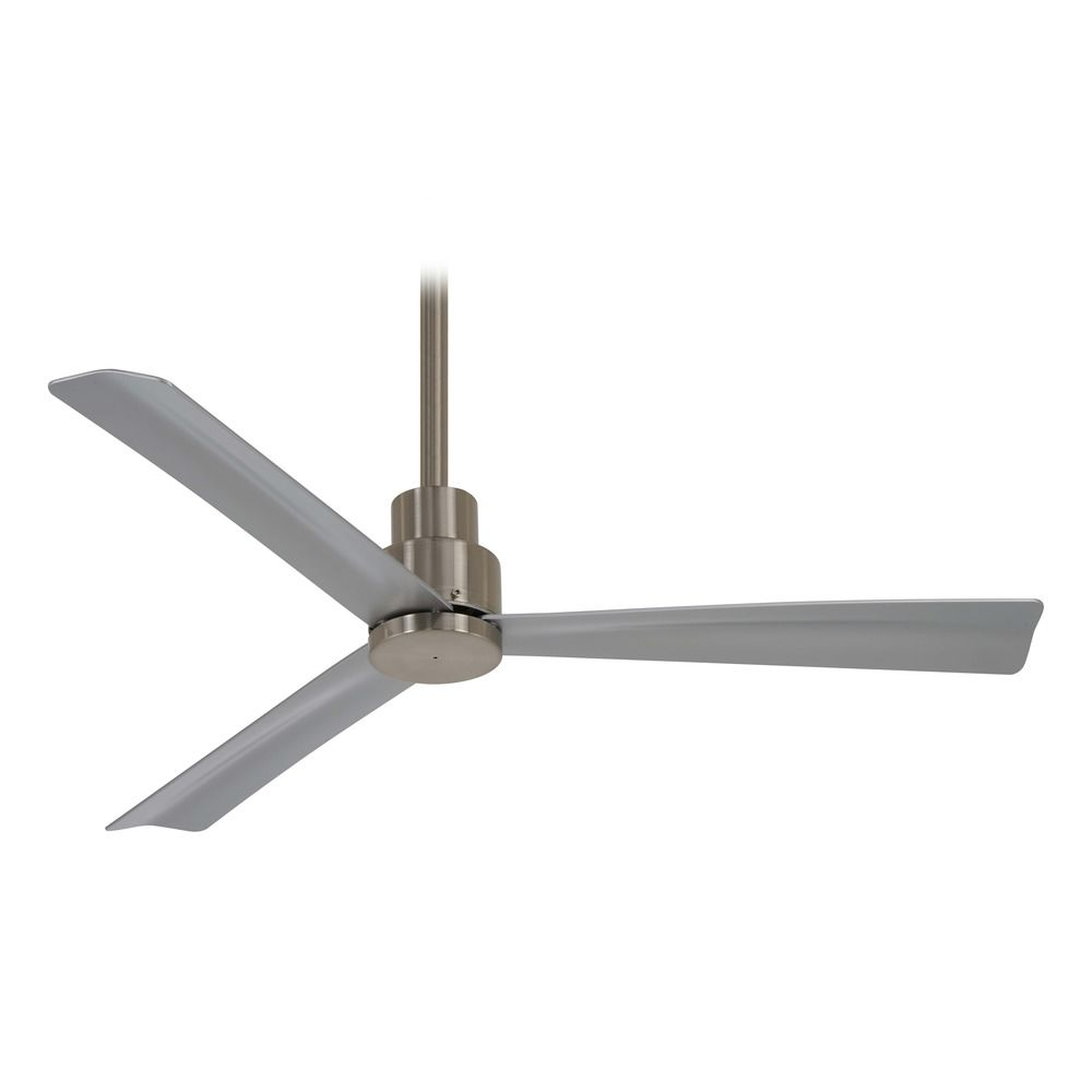 Minka Aire 44 Inch Simple Brushed Nickel Ceiling Fan Without Light F786 Hover Or To Zoom