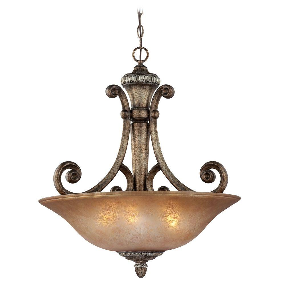 four light pendant with decorative scrolls 2404 162