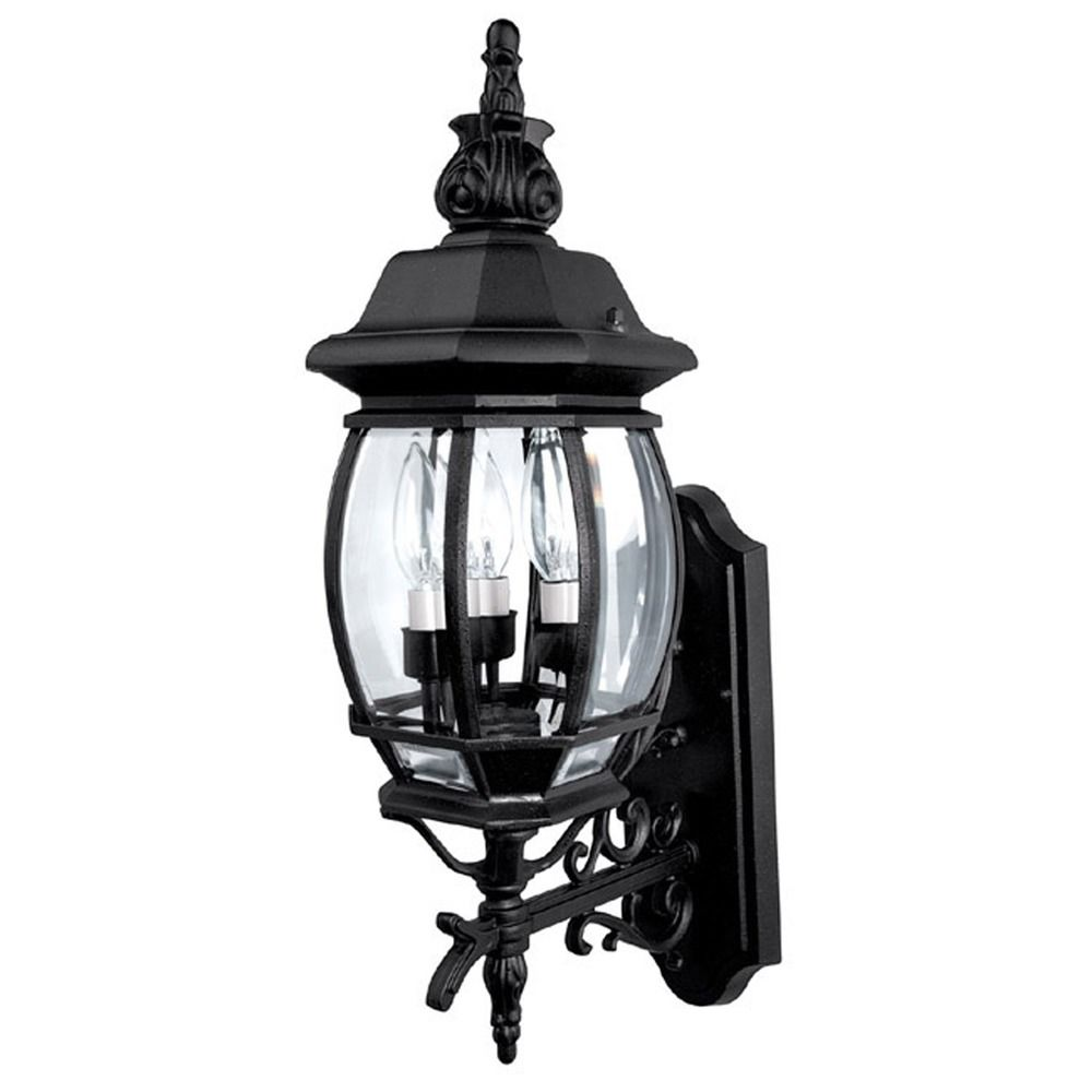 Exterior Lighting: Capital Lighting French Country Black Outdoor Wall Light