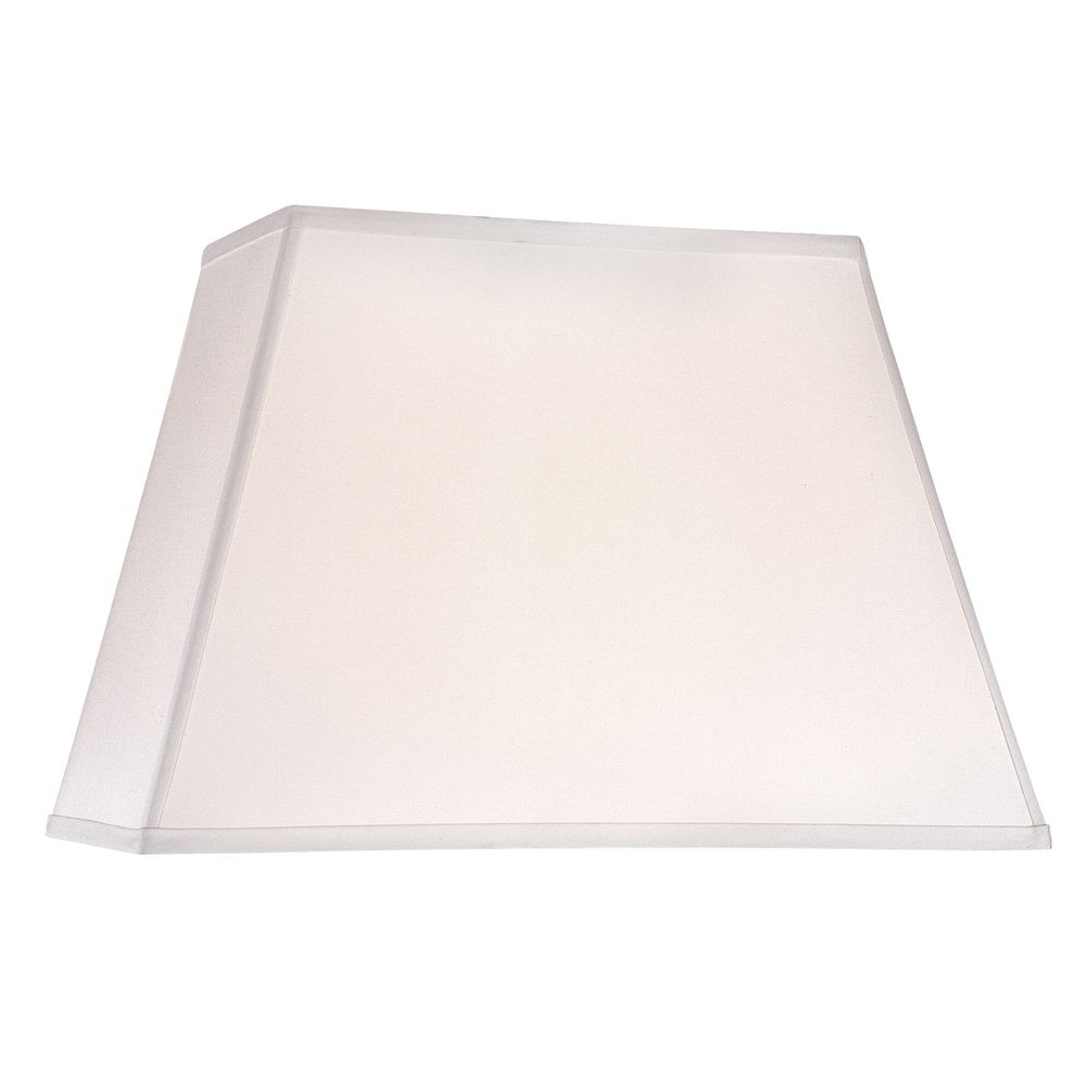 Design Classics Lighting White Linen Rectangle Lamp Shade With Spider  Assembly DCL SH7285 PCW
