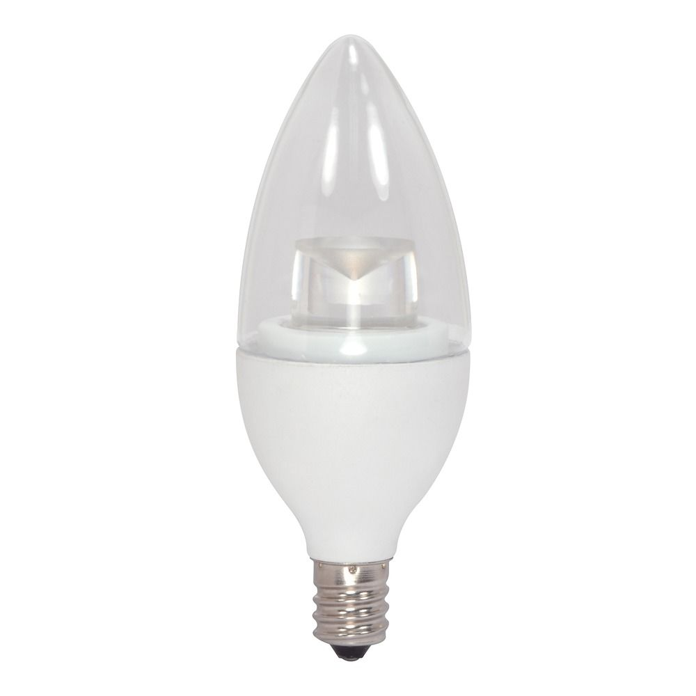 LED Flame Light Bulb Candelabra Base 3000K