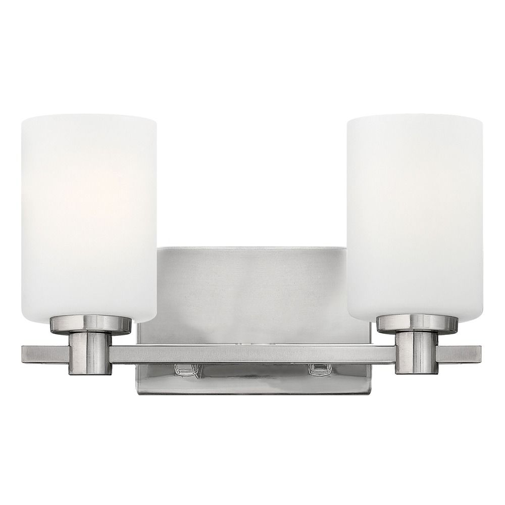 Hinkley lighting karlie brushed nickel bathroom light for Hinkley bathroom vanity lighting