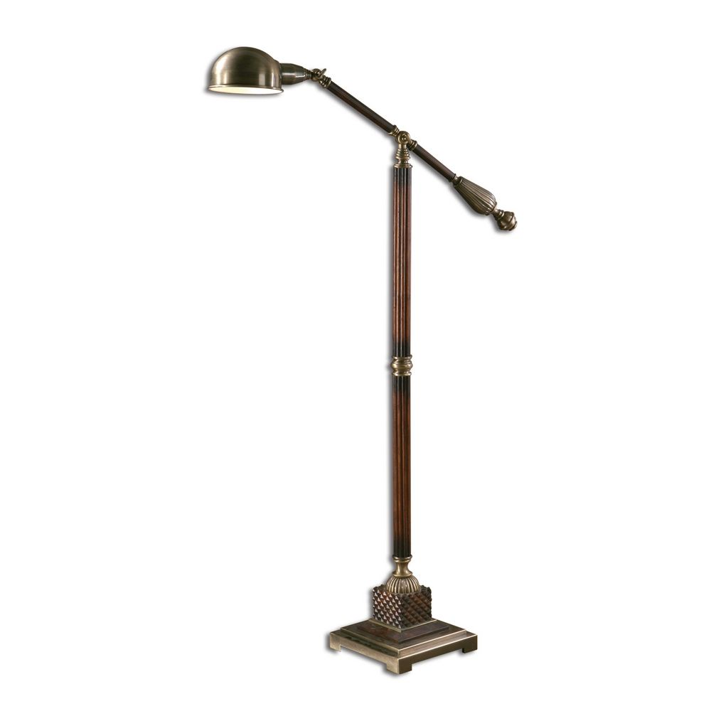 pharmacy floor lamp in antique bronze finish 28514 1 destination. Black Bedroom Furniture Sets. Home Design Ideas