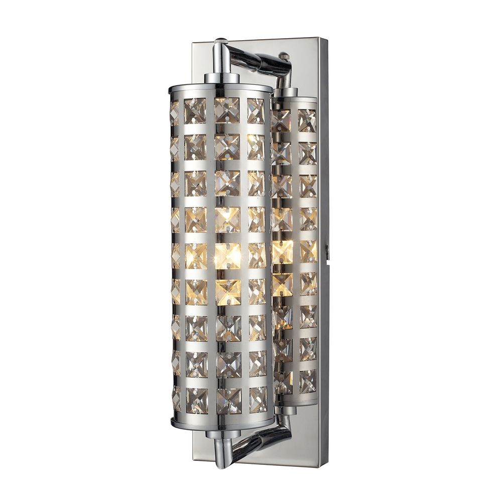 Vanity Lighting Vertical : Crystallure Chrome Bathroom Light - Vertical Mounting Only 31346/1 Destination Lighting