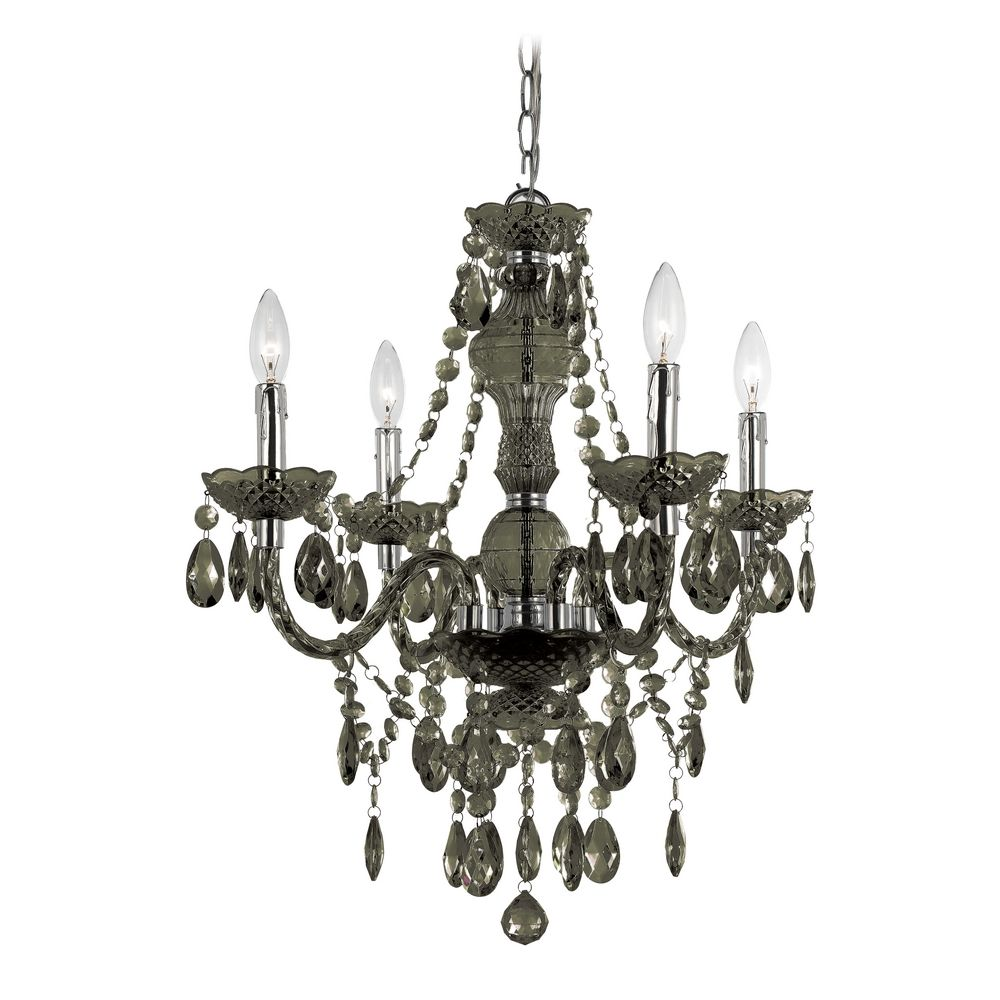 af lighting plug in black crystal chandelier with swag kit 8351 4h black crystal chandelier lighting