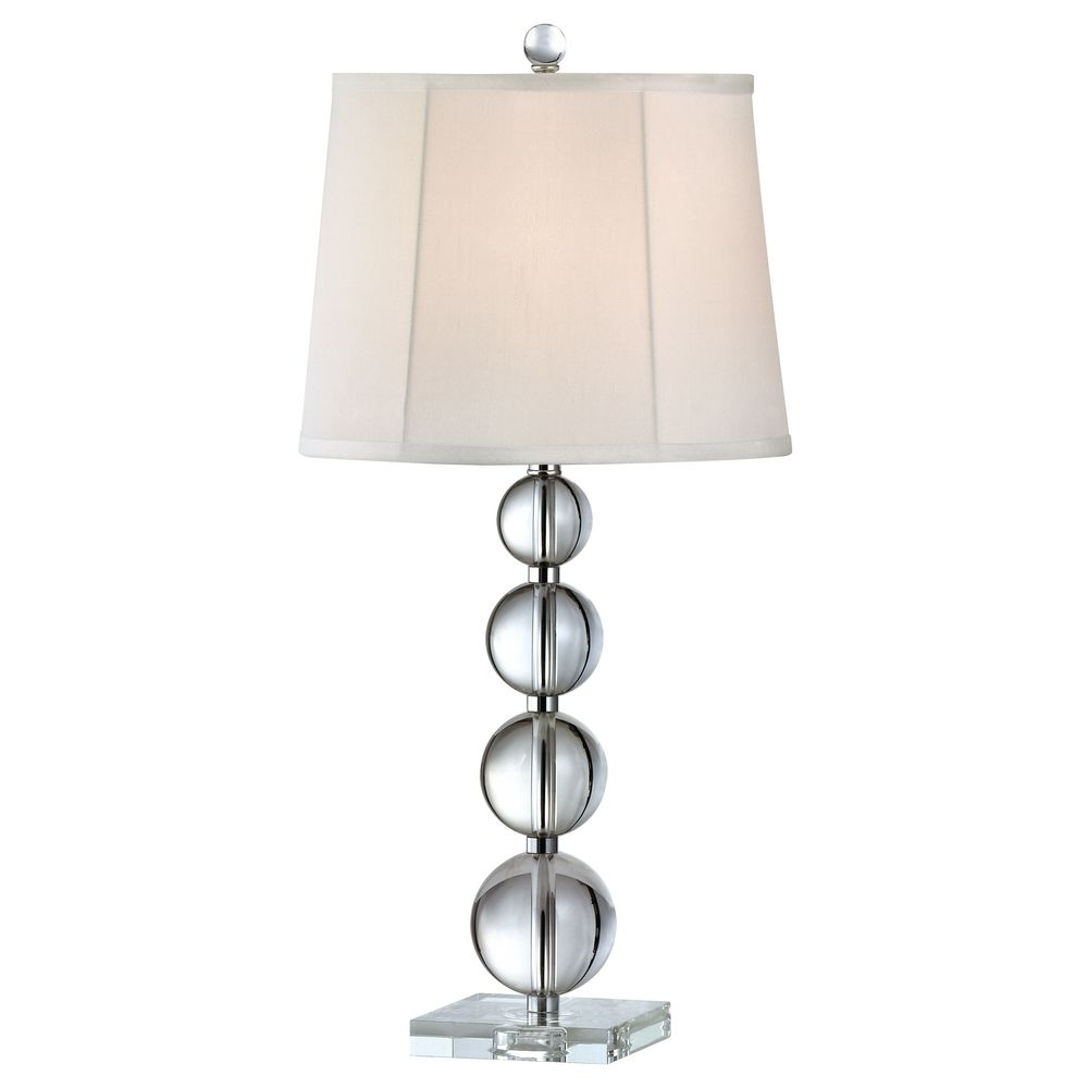 lighting symphony crystal orb table lamp with white silk shade 2223. Black Bedroom Furniture Sets. Home Design Ideas