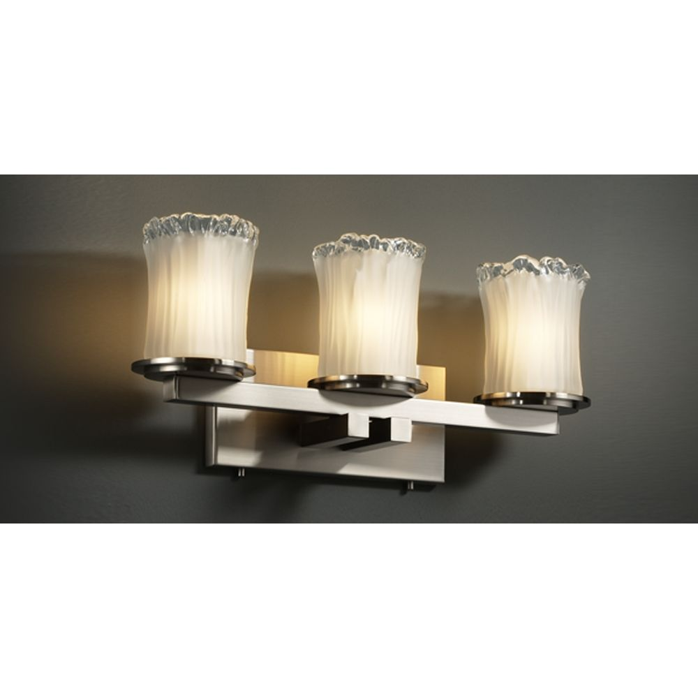 justice design group bathroom lighting justice design veneto luce collection brushed nickel 23570