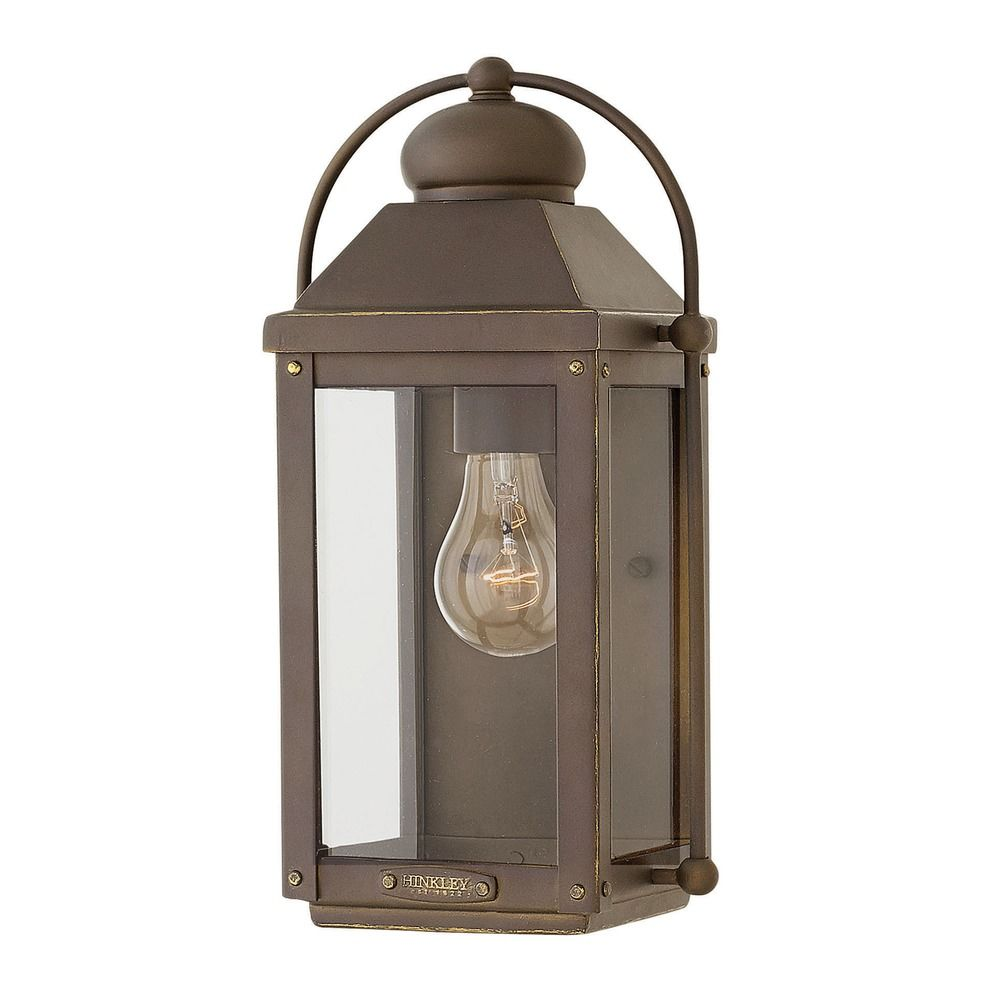 Hinkley Lighting Anchorage Light Oiled Bronze Outdoor Wall Light 1850LZ D