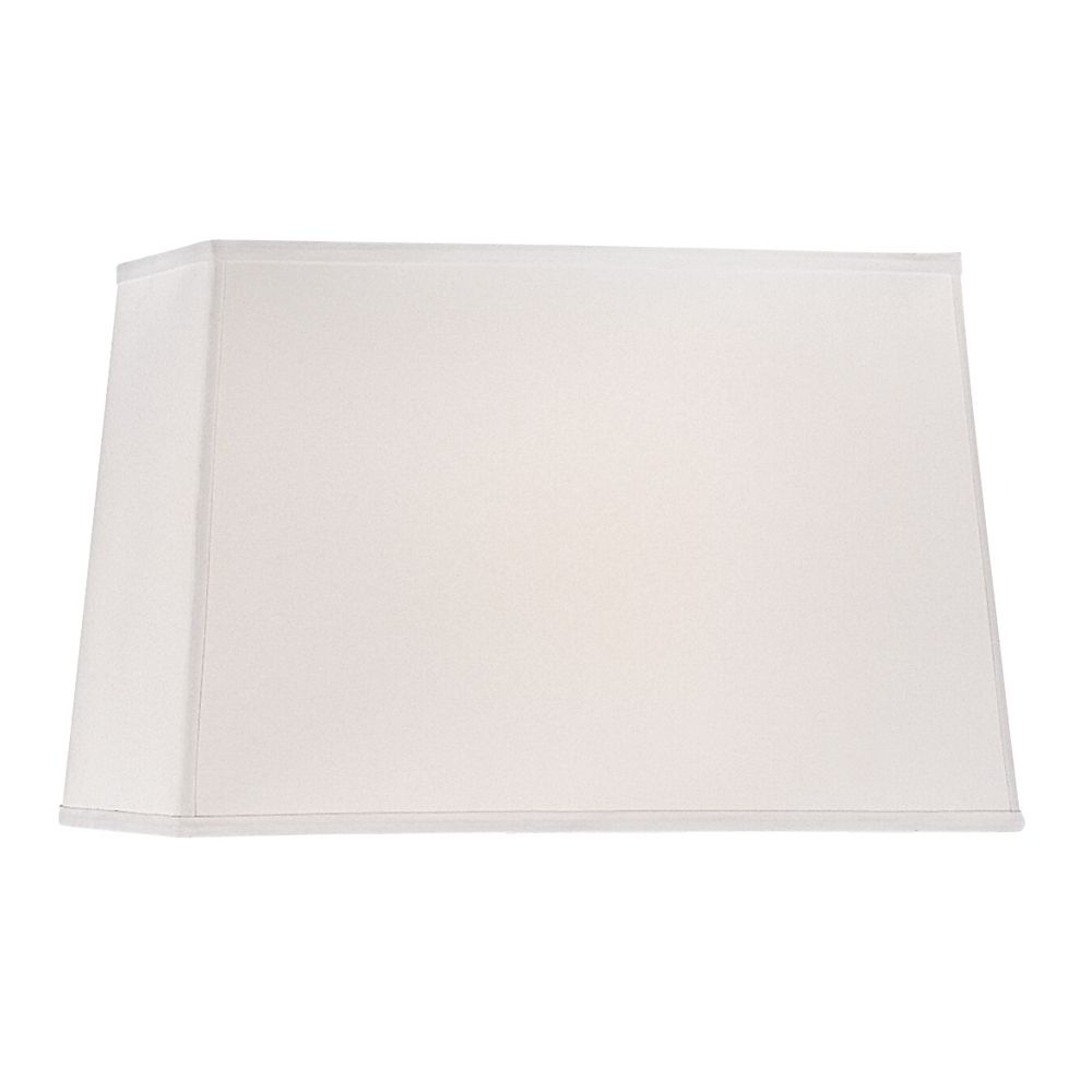 Large Rectangle Lamp Shade In White Linen Fabric With