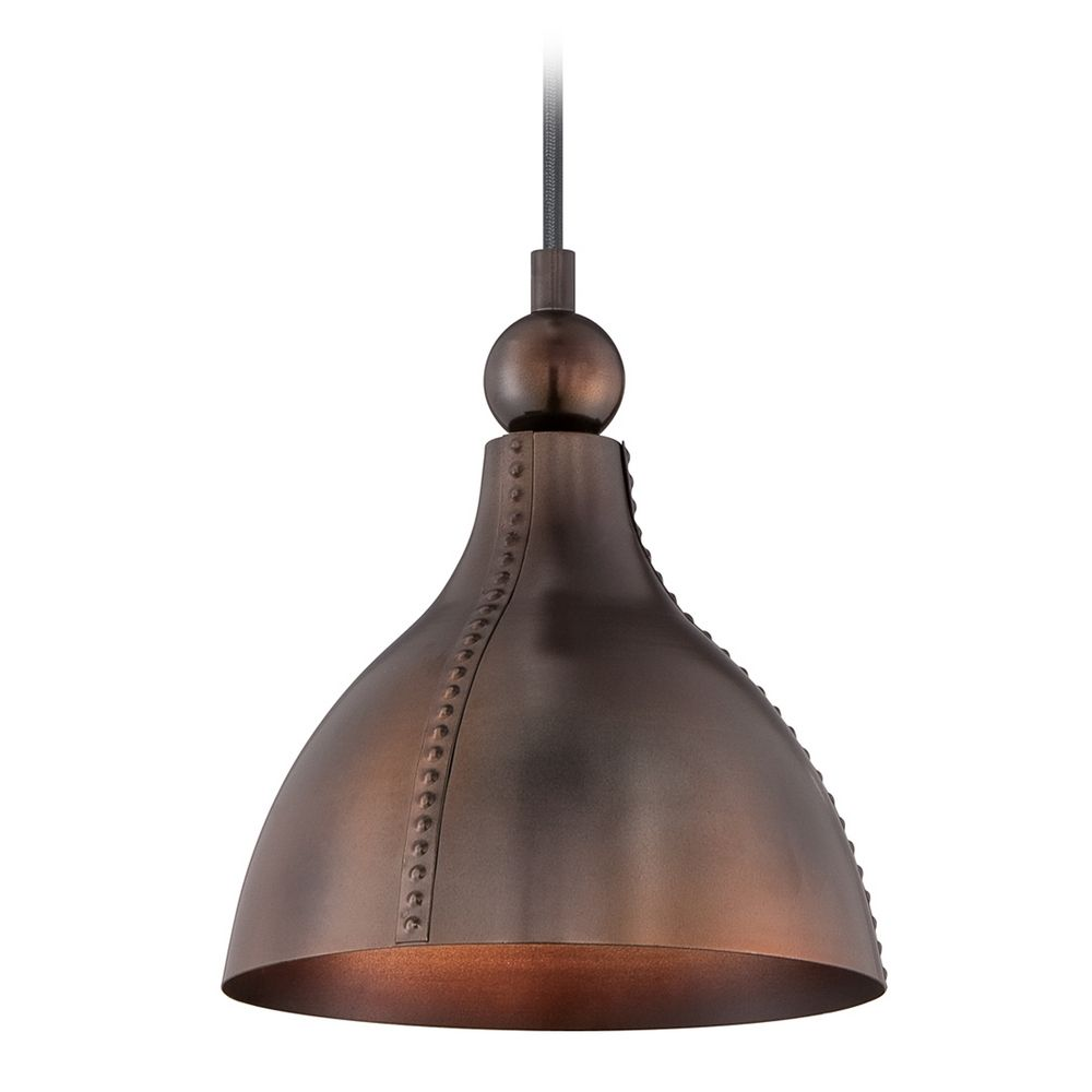 Quoizel Lighting Gaston Mottled Bronze Mini Pendant Light