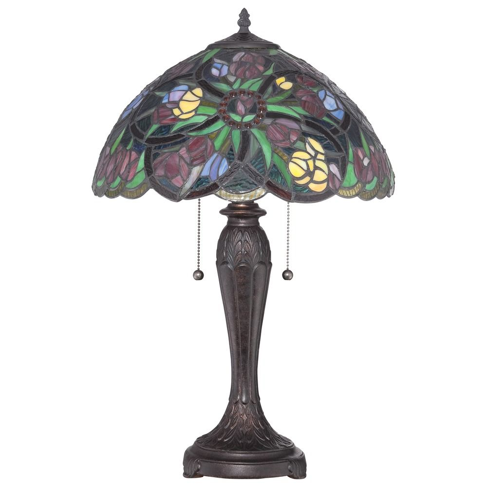 quoizel lighting tiffany antique bronze table lamp tf1868t. Black Bedroom Furniture Sets. Home Design Ideas