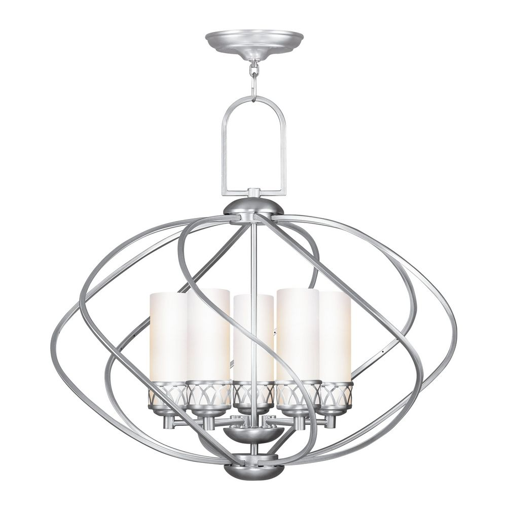 Livex Lighting Westfield Brushed Nickel Chandelier With