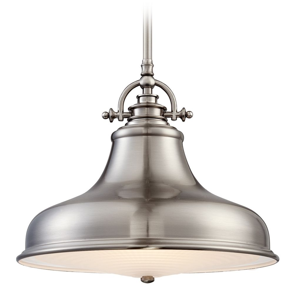 emery brushed nickel pendant light er1814bn destination lighting