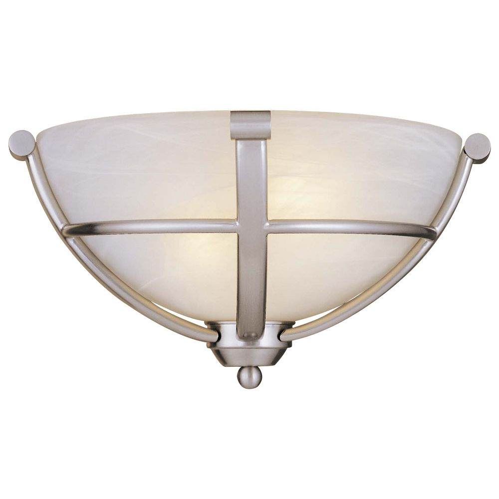 Etched Glass Wall Lights : Sconce Wall Light in Brushed Nickel - Etched Marble Glass 1420-84 Destination Lighting