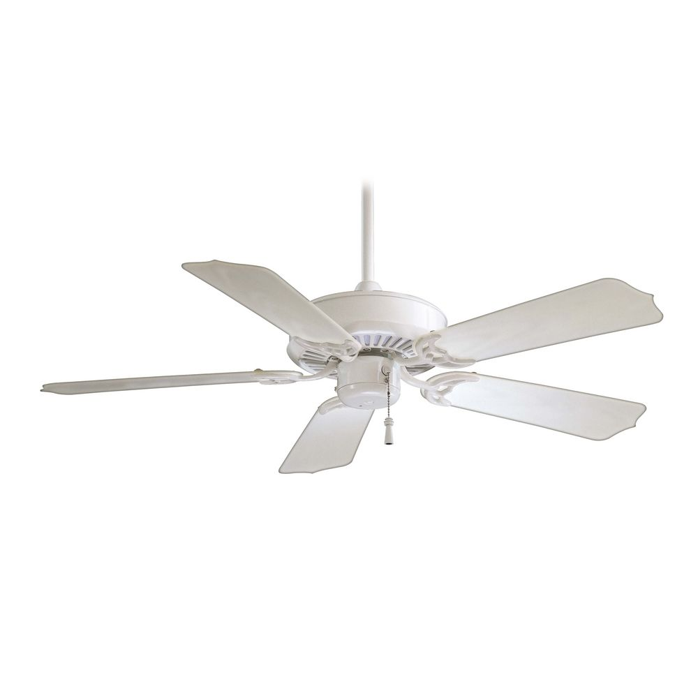42 Inch Ceiling Fan Without Light In White Finish F572