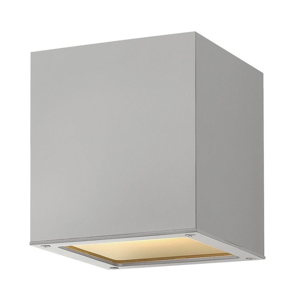 Close To Ceiling Modern Lights : Modern close to ceiling light with white glass in titanium