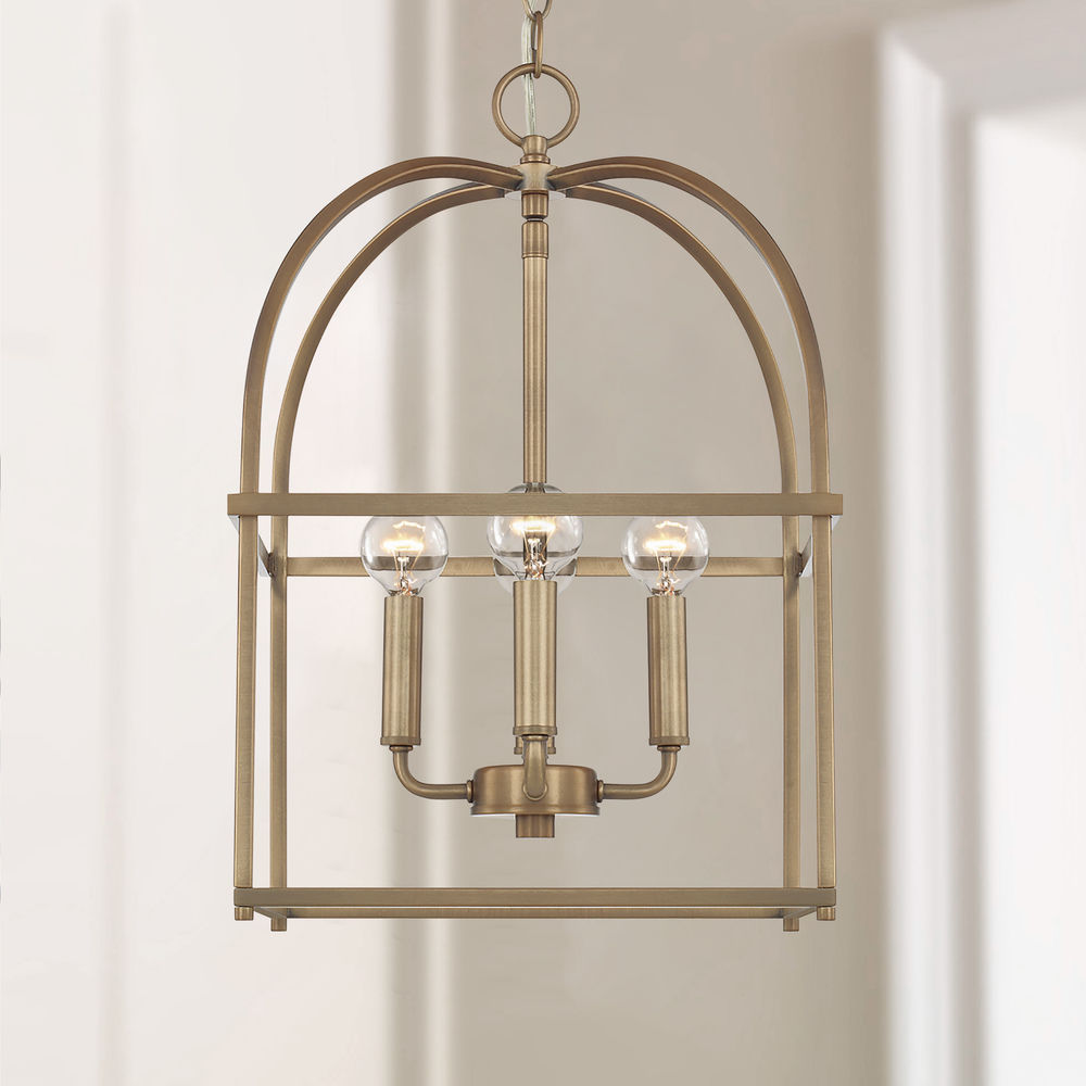 Homeplace By Capital Lighting Aged Brass Pendant Light ...