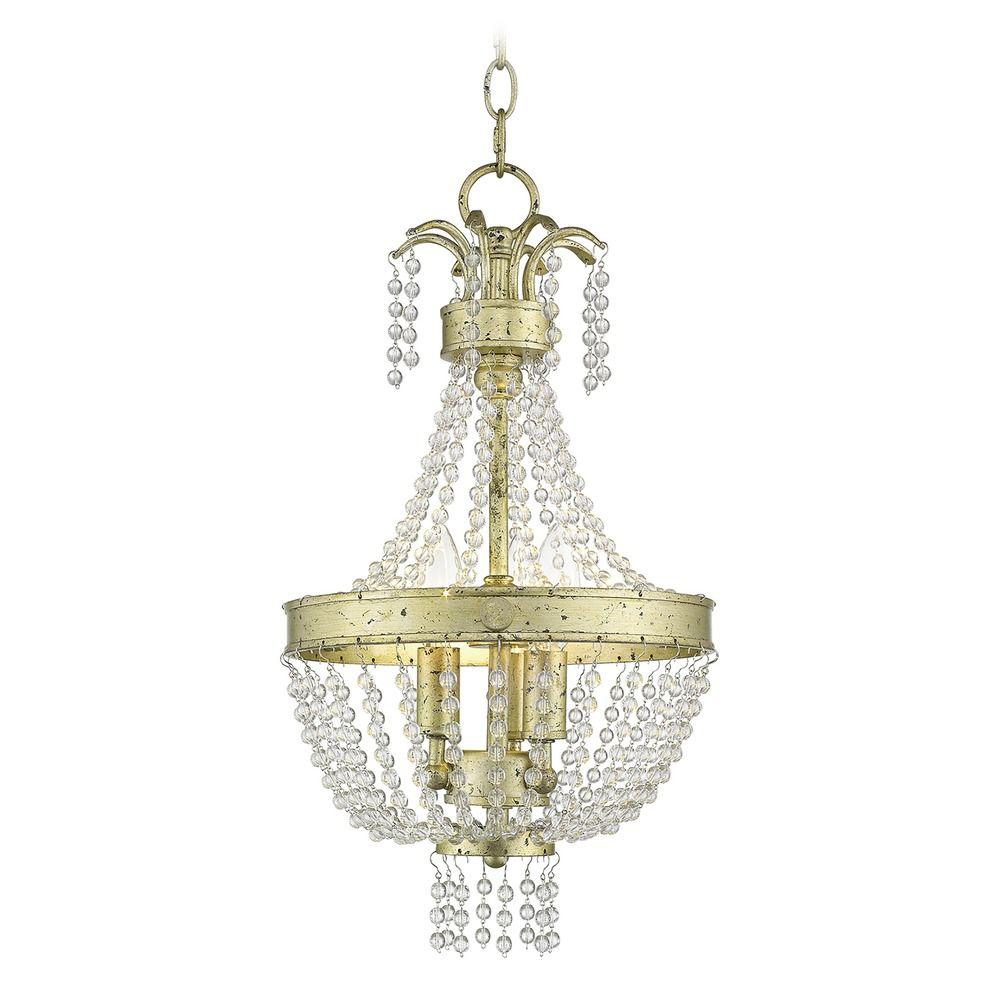 Product Image  sc 1 st  Destination Lighting & Livex Lighting Valentina Hand Applied Winter Gold Mini-Pendant Light ...