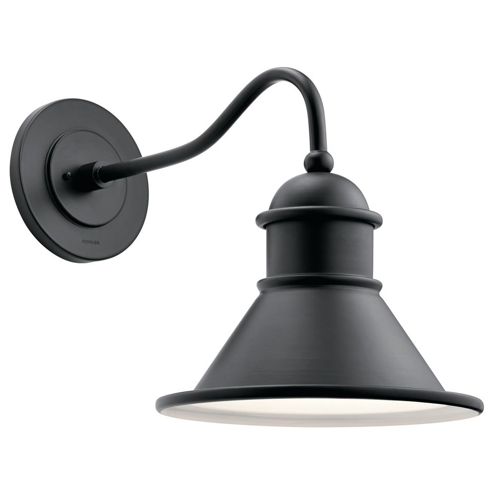 Farmhouse Barn Light Outdoor Wall Light Black By Kichler