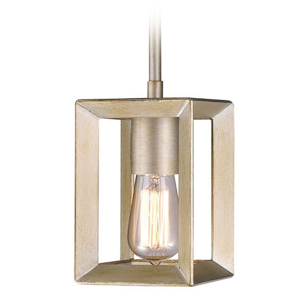 Golden Lighting Smyth White Gold Mini Pendant Light Alt2